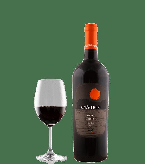 vino Note Nere, rosso Nero d'Avola