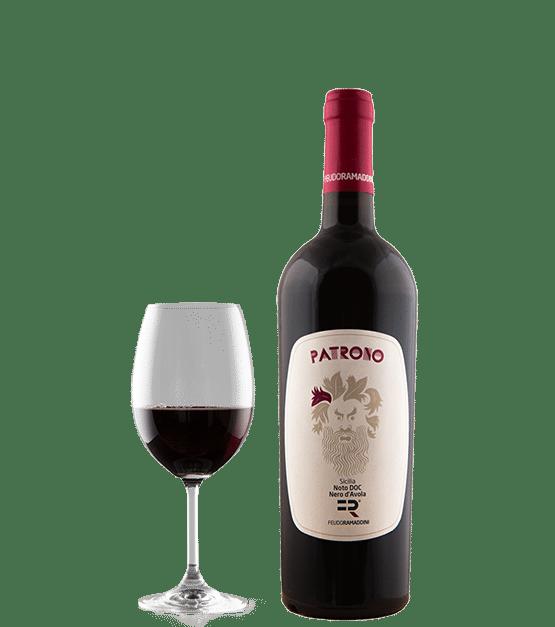 Patrono, vino rosso prodotto dal Nero d'Avola