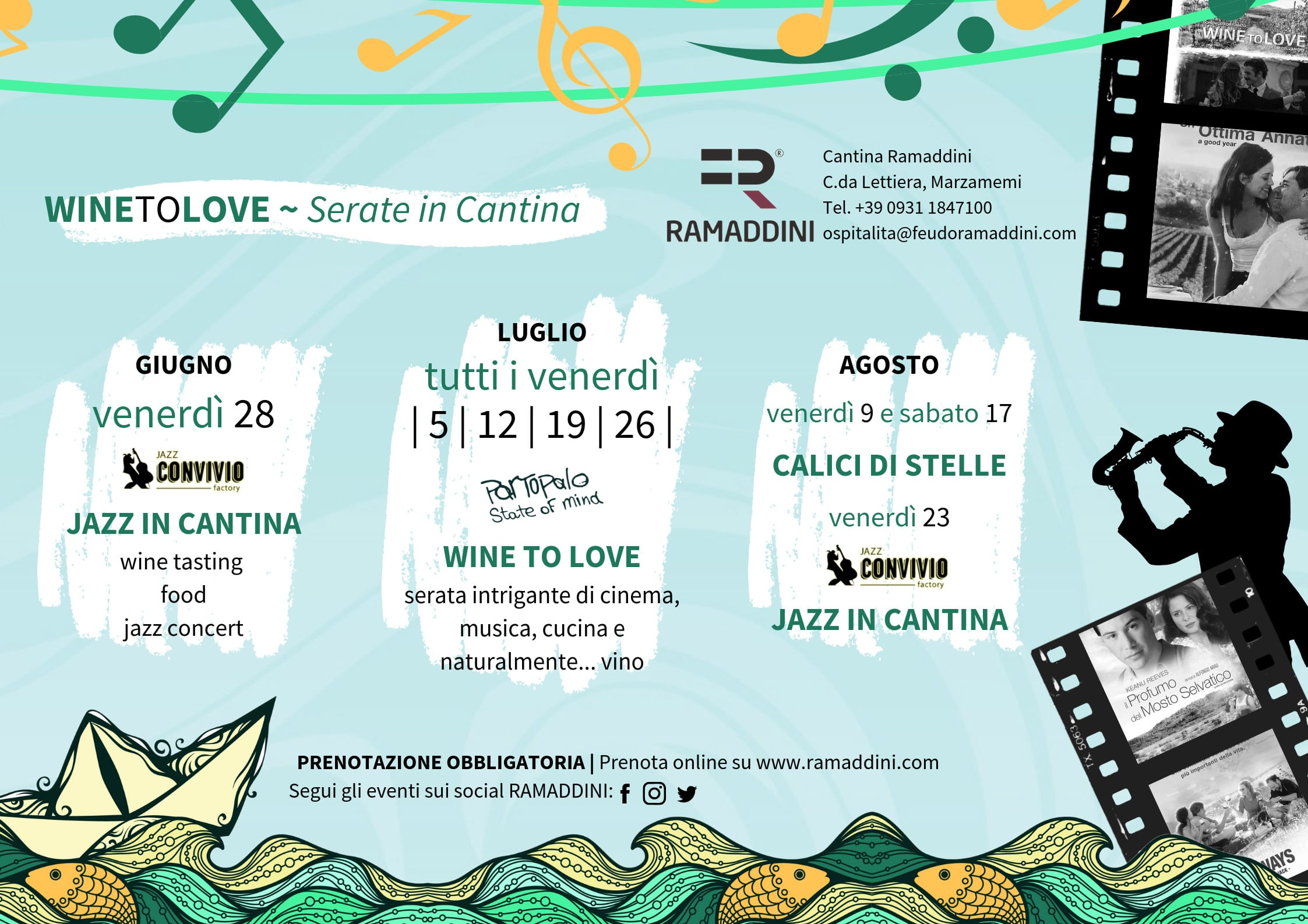 WINE TO LOVE – SERATE IN CANTINA RAMADDINI