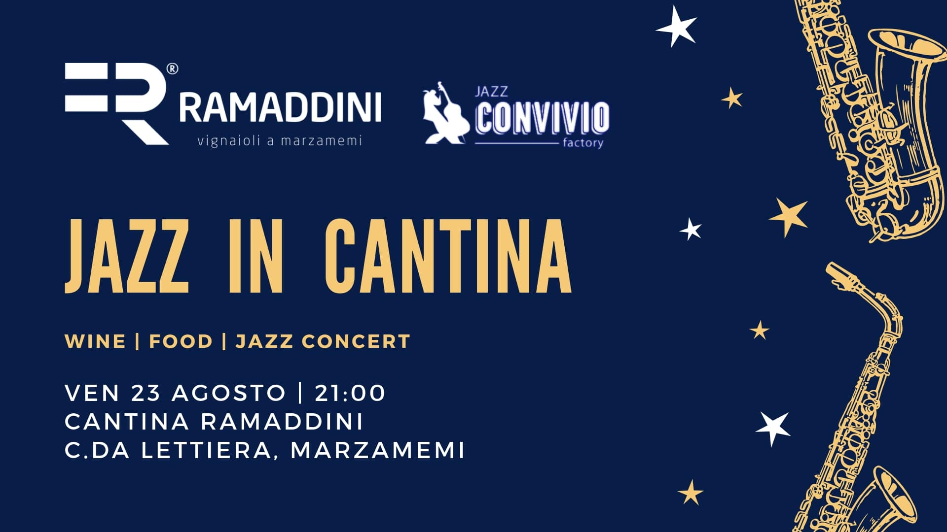 L'estate finisce in bellezza con JAZZ IN CANTINA!