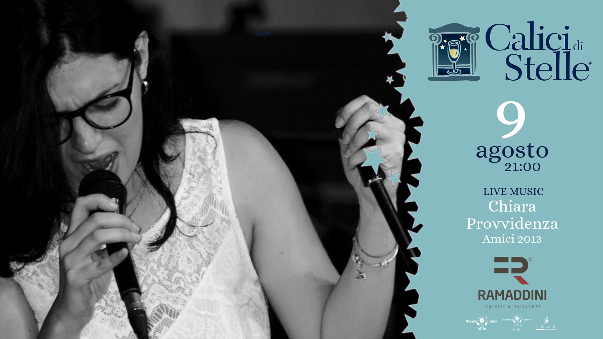 Live Music con Chiara Provvidenza il 9 AGOSTO a Calici di Stelle 2019 Marzamemi!
