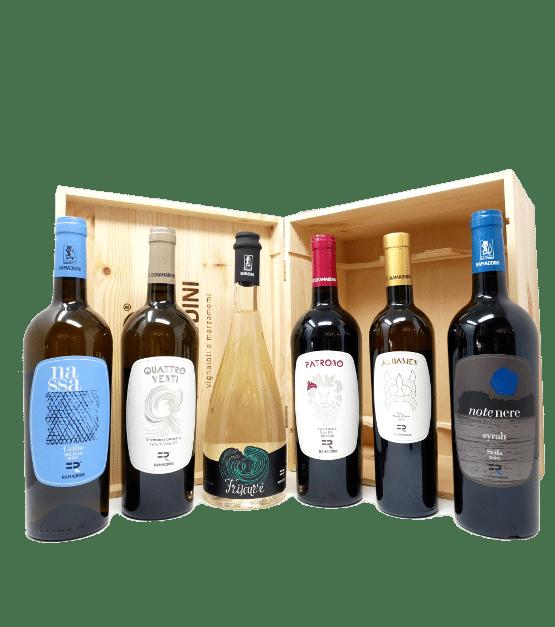 dioniso cassetta vini regalo