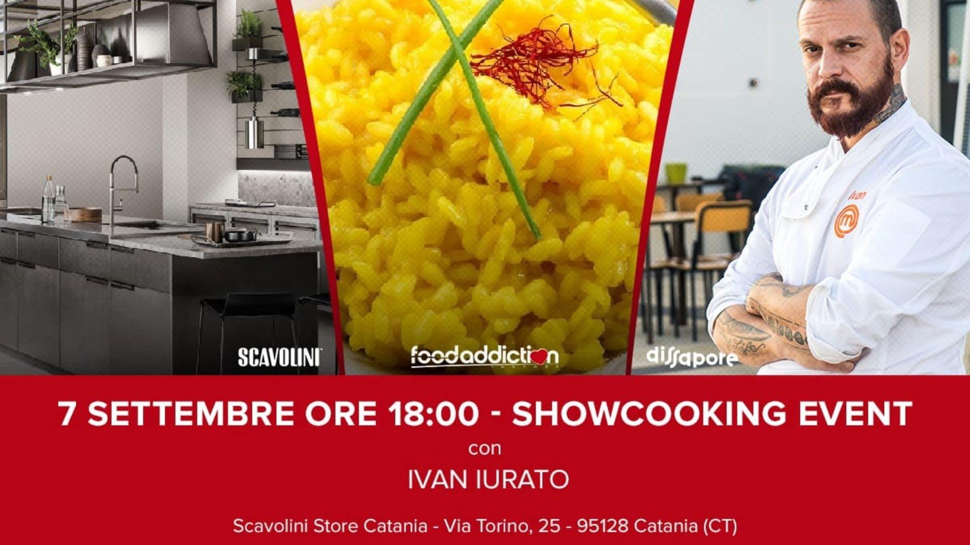Siamo allo show-cooking con Ivan Iurato di Masterchef!